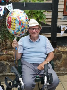 Michael Enjoying his 90th Birthday at Castle Farm Retirement Home